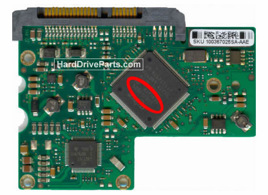 Seagate ST3160812AS Festplatten Ersatzteile Platine 100367025