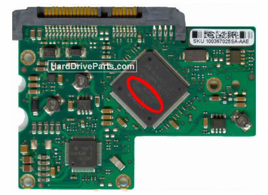 Seagate ST3300822AS Festplatten Ersatzteile Platine 100367026
