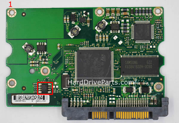 Seagate Festplattenelektronik PCB 100387575