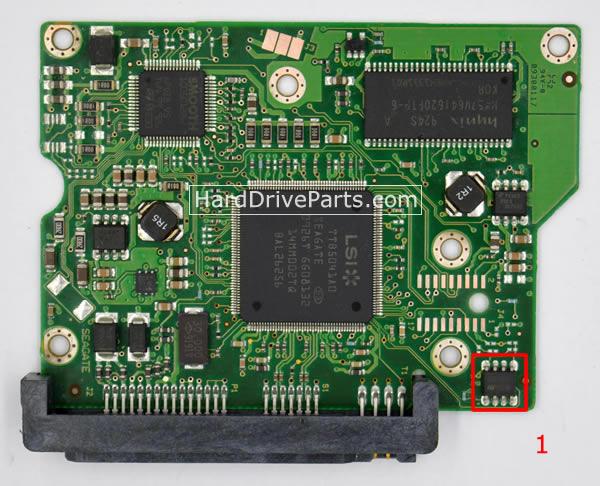 Seagate Festplattenelektronik PCB 100468303