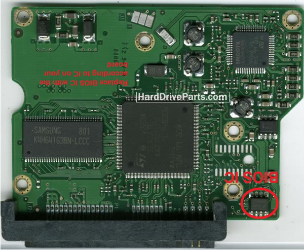 Seagate Festplattenelektronik PCB 100496208