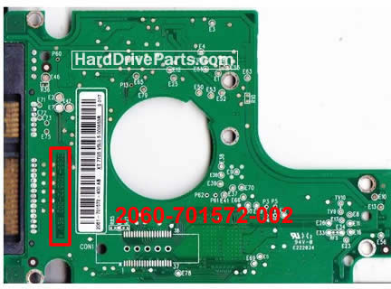 WD4000BEVT WD PCB Circuit Board 2060-701572-002