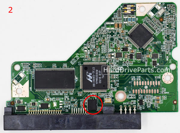 WD5000AAKS WD PCB Circuit Board 2060-701640-001