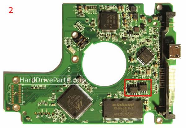 Western Digital Festplattenelektronik PCB 2060-701675-004