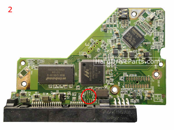 WD5000AAKS WD PCB Circuit Board 2060-771590-001