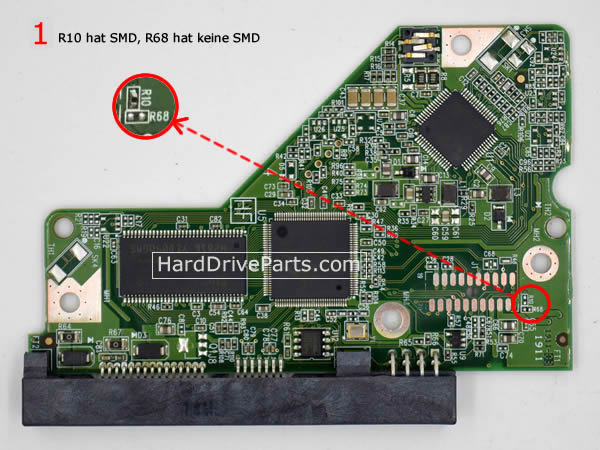 WD7500AARS WD PCB Circuit Board 2060-771640-003