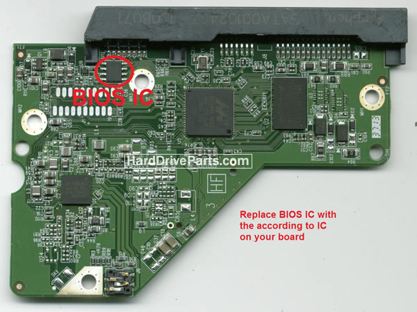 WD20EFRX WD PCB Circuit Board 2060-771945-001