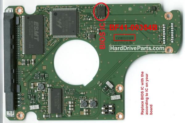 Samsung Festplattenelektronik PCB BF41-00354B 01