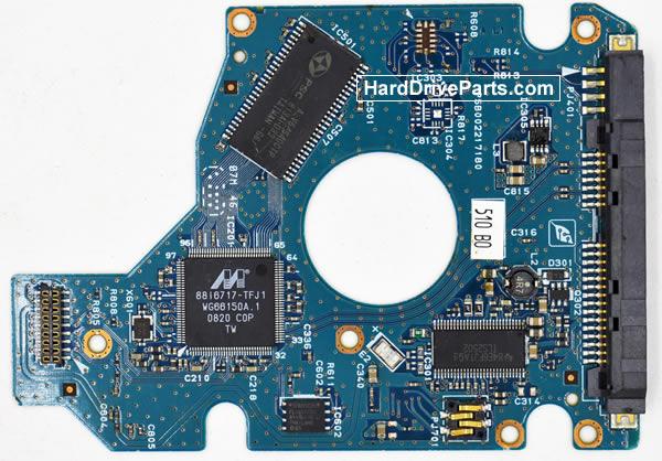 Toshiba MK8052GSX Festplatten Ersatzteile Platine G002217A