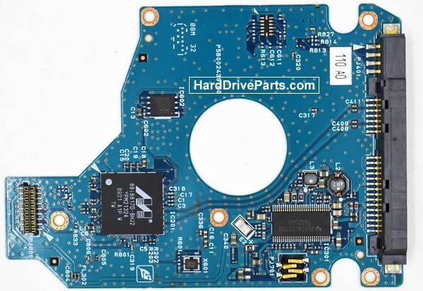 Toshiba MK1655GSXF Festplatten Ersatzteile Platine G002439-0A