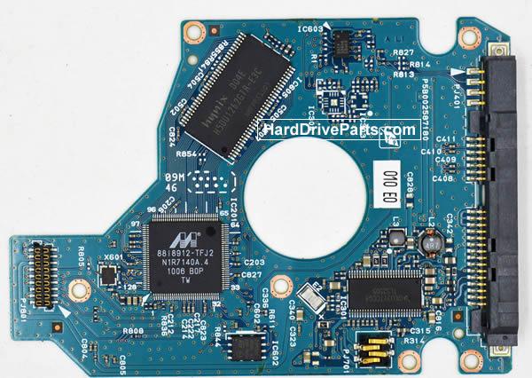 Toshiba MK5056GSY Festplatten Ersatzteile Platine G002587-0A