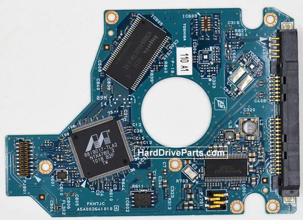Toshiba MK1665GSX Festplatten Ersatzteile Platine G002641A