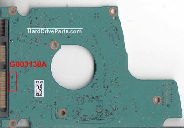 Toshiba Festplattenelektronik PCB G003138A