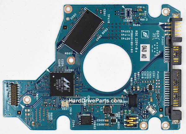 Toshiba MK1637GSX Festplatten Ersatzteile Platine G5B001851000-A