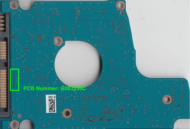 Toshiba Festplatte Elektronik Platine PCB Nummer