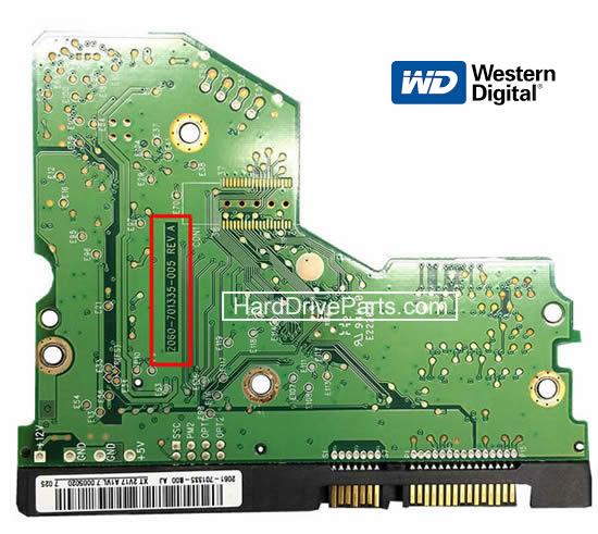 Western Digital Festplatte Elektronik Platine PCB